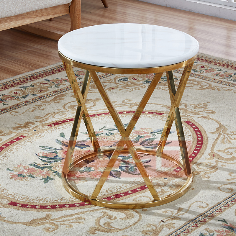 Modern Marble Side Table Snow Globe Furniture Singapore